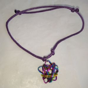 Rainbow Wire Star Bracelet or Anklet Hand Crafted